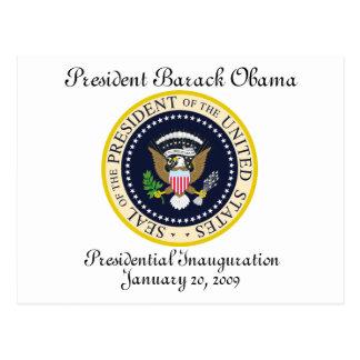 PRESIDENT OBAMA Inauguration Commemorative Postcard