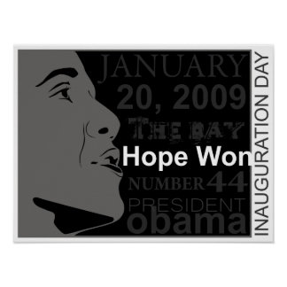 president obama - inauguration day poster