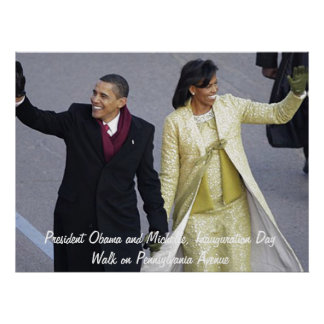 President Obama Inauguration Day Walk Poster