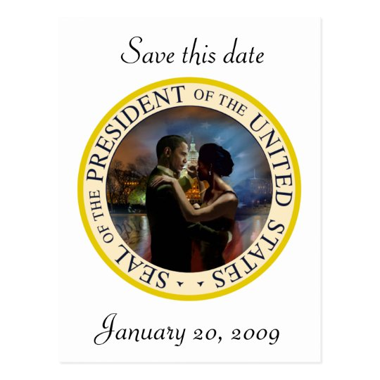 President Obama Inauguration Keepsakes Postcard