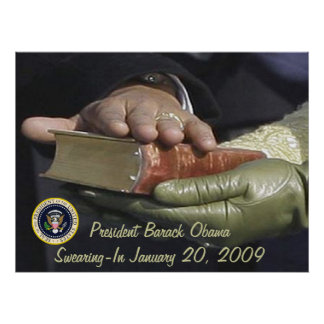President Obama Inauguration SWEARING-IN Poster