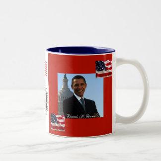 President Obama Patriotic Celebration Two-Tone Coffee Mug