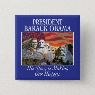 President Obama Rushmore Gear 2 Inch Square Button