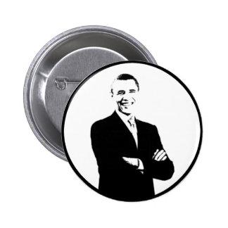President Obama Stencil 2 Inch Round Button
