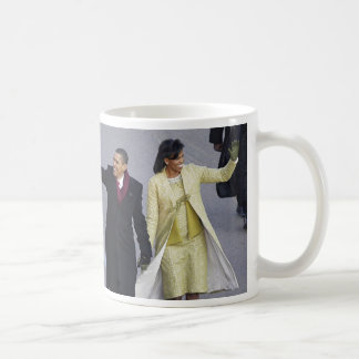 President Obama WALK ON PENNSYLVANIA AVE Coffee Mug