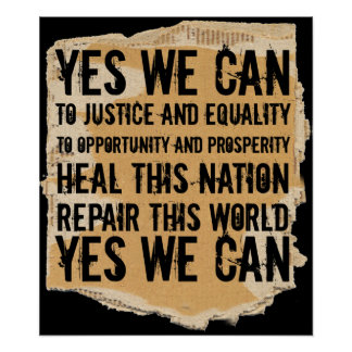 PRESIDENT OBAMA-YES WE CAN POSTER