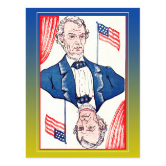 President of Flags - Abraham Lincoln Postcard
