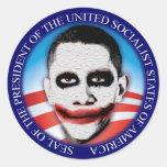 President of the USSA Round Sticker
