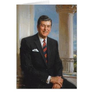 President Reagan Sitting Outside. Card