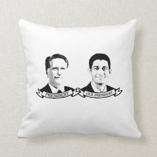 PRESIDENT ROMNEY AND VICE PRESIDENT RYAN -.png Throw Pillow