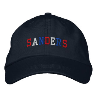 President Sanders 2016 Red White Blue Patriotic Embroidered Baseball Cap