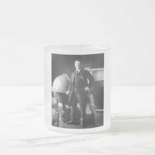 President Theodore Roosevelt 10 Oz Frosted Glass Coffee Mug