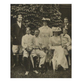 President Theodore Roosevelt and Family Poster