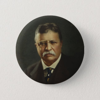 President Theodore Roosevelt by Forbes Lithography 2 Inch Round Button