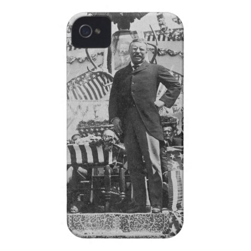 President Theodore Roosevelt in Wyoming iPhone 4 Cases