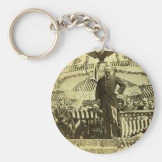 President Theodore Roosevelt Speaking 1903 Basic Round Button Keychain