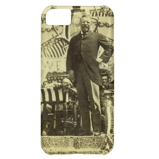 President Theodore Roosevelt Speaking 1903 iPhone 5C Cases