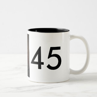 President Trump and Vice President Pence Two-Tone Coffee Mug