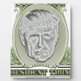 President Trump Dollar Plaque