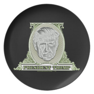President Trump Dollar Plate