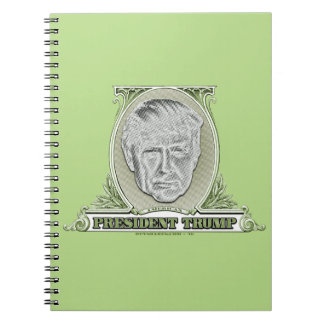 President Trump Dollar Spiral Notebook
