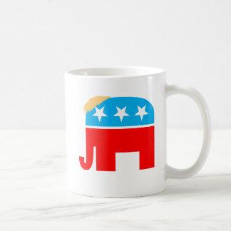 President Trump Hair GOP Elephant Symbol Coffee Mug