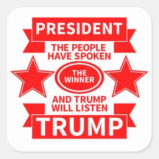 President Trump Square Sticker