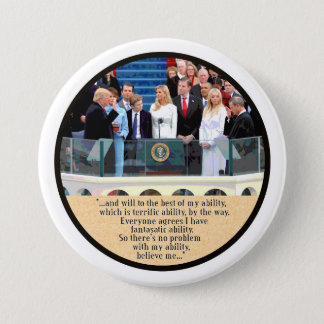 President Trump takes the Oath 3 Inch Round Button