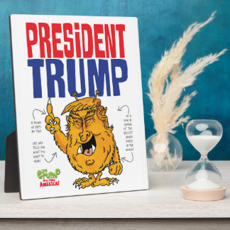 President Trump the Grump Plaque