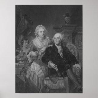 President Washington At Home Poster