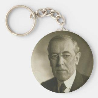 President Woodrow Wilson Portrait 1919 Keychains