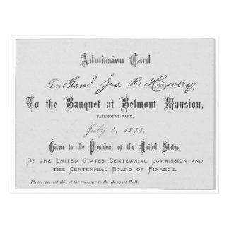 Presidential Banquest Admission Card