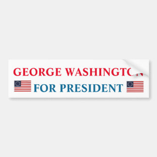 Presidential Bumper Sticker: George Washington Bumper Sticker