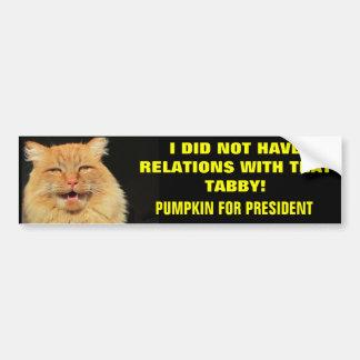Presidential Campaign Slogan Bumper Sticker