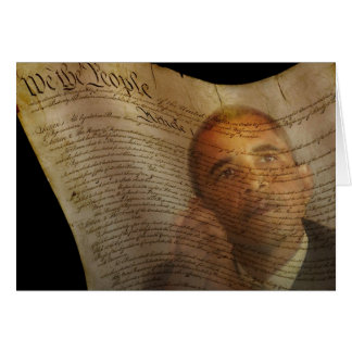 Presidential Democrat Candidate, US President Greeting Card
