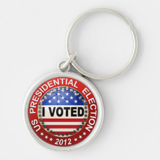 Presidential Election 2012 I voted Silver-Colored Round Keychain