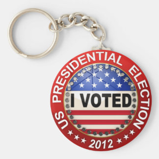 Presidential Election 2012 I voted Basic Round Button Keychain