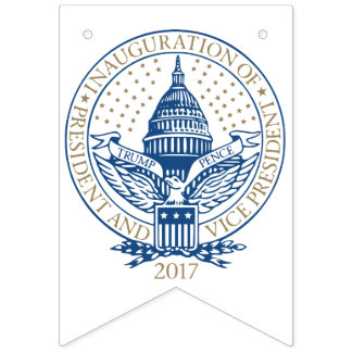 Presidential Inauguration Trump Pence 2017 Bunting Flags