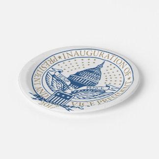 Presidential Inauguration Trump Pence 2017 Logo Paper Plate