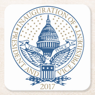 Presidential Inauguration Trump Pence 2017 Logo Square Paper Coaster