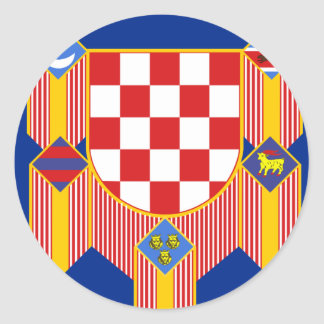 Presidential   the Republic Croatia, Croatia Classic Round Sticker