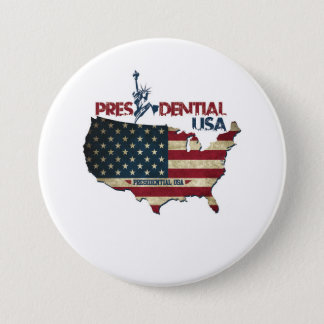Presidential USA Button Freedom