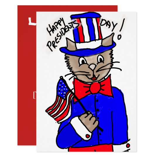 President's Day Cat card