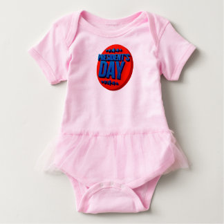 President's Day Text USA Celebration Baby Bodysuit