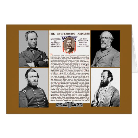 Presidents Day Tribute Gettysburg Address NoteCard