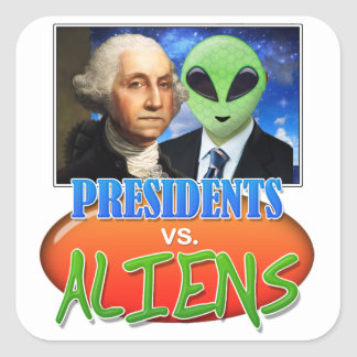 Presidents vs, Aliens Stickers