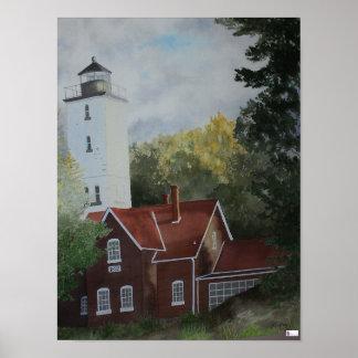 Presque Ilse Lighthouse Print