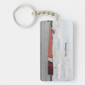 Presque Isle rectangle acrylic key chain