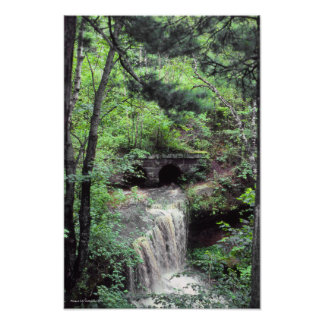 Presque Isle River Waterfalls 1981 U. P. Michigan Poster