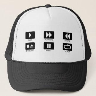 press buttons trucker hat